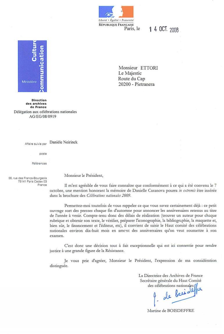 Magà Ettori - Danielle Casanova _ Ministère de la Culture et de la communication