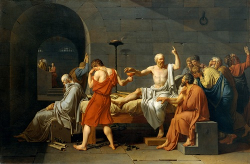Jacques-Louis David, La mort de Socrate (1787), conservé au Metropolitan Museum of Art de New York.