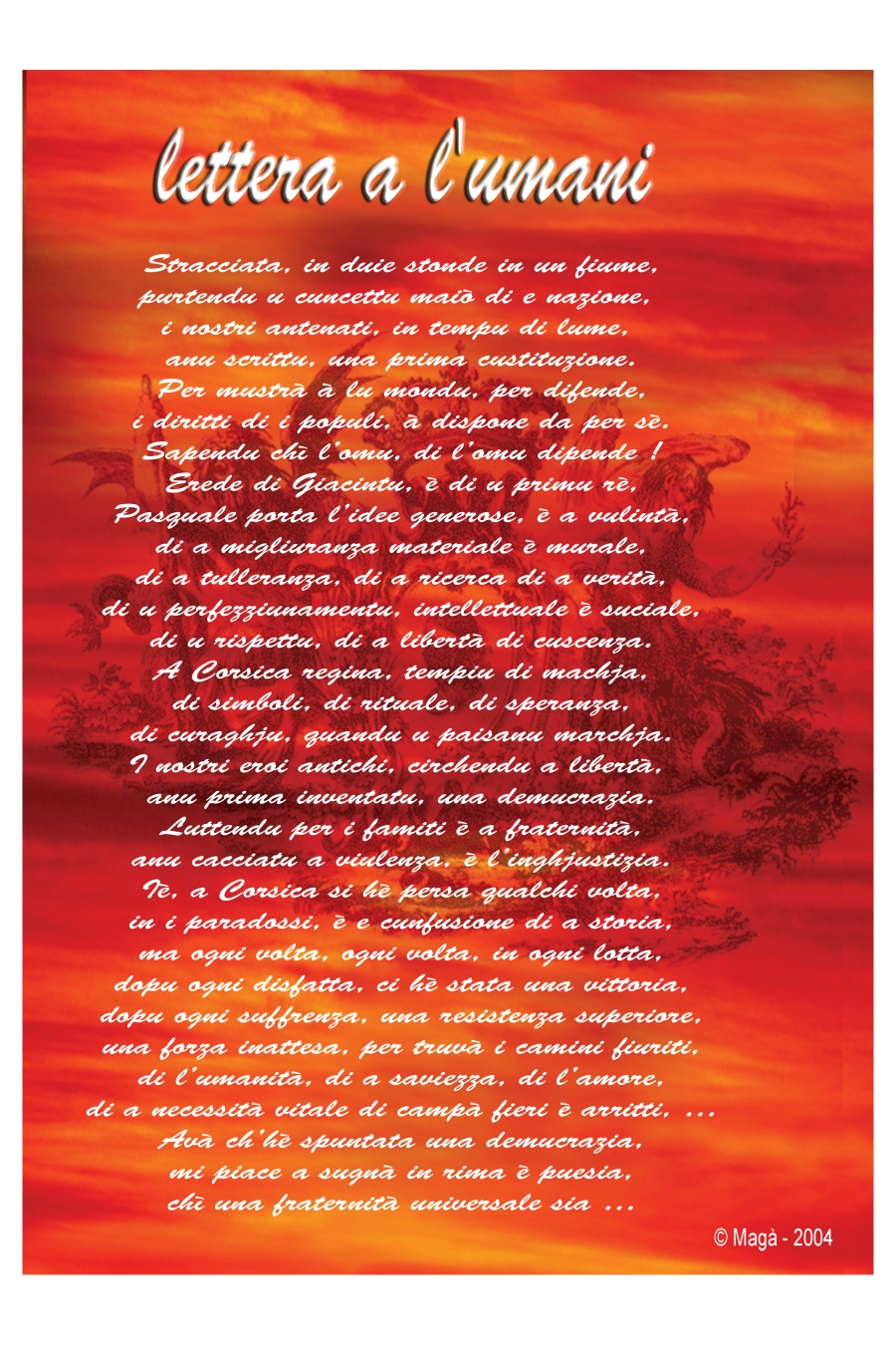 LETTERA A L'UMANI (Magà Ettori - Blog)