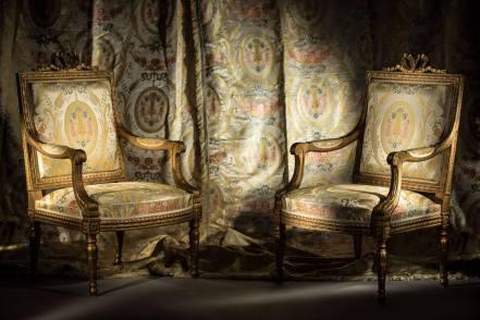 fauteuils et tentures du films Marie-Antoinette de Sophia Coppola