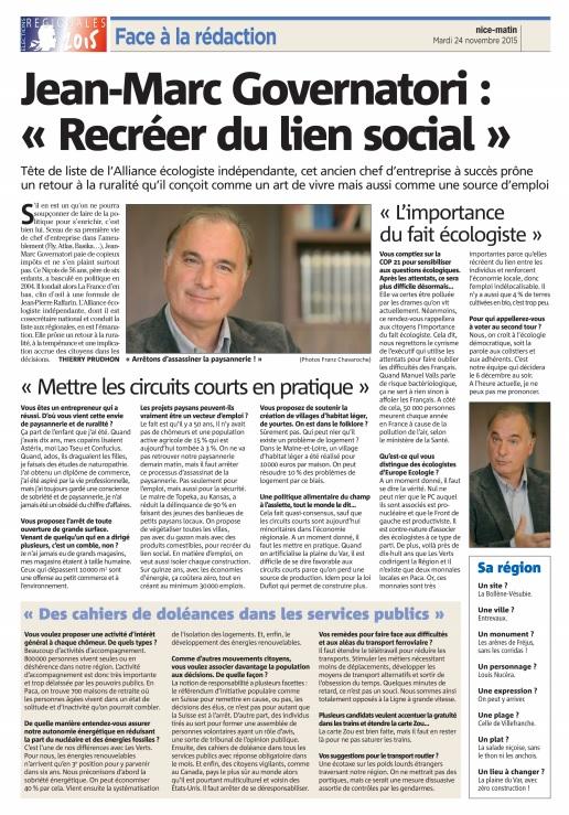 Jean Marc Governatori (Magà ettori) Blog