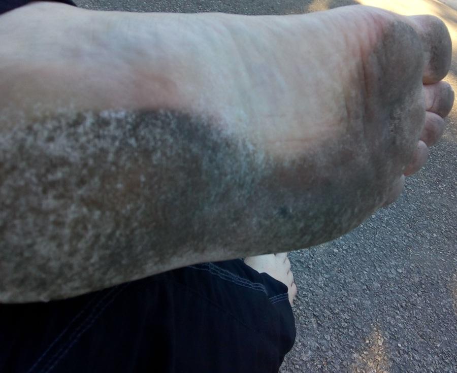 course pieds nus