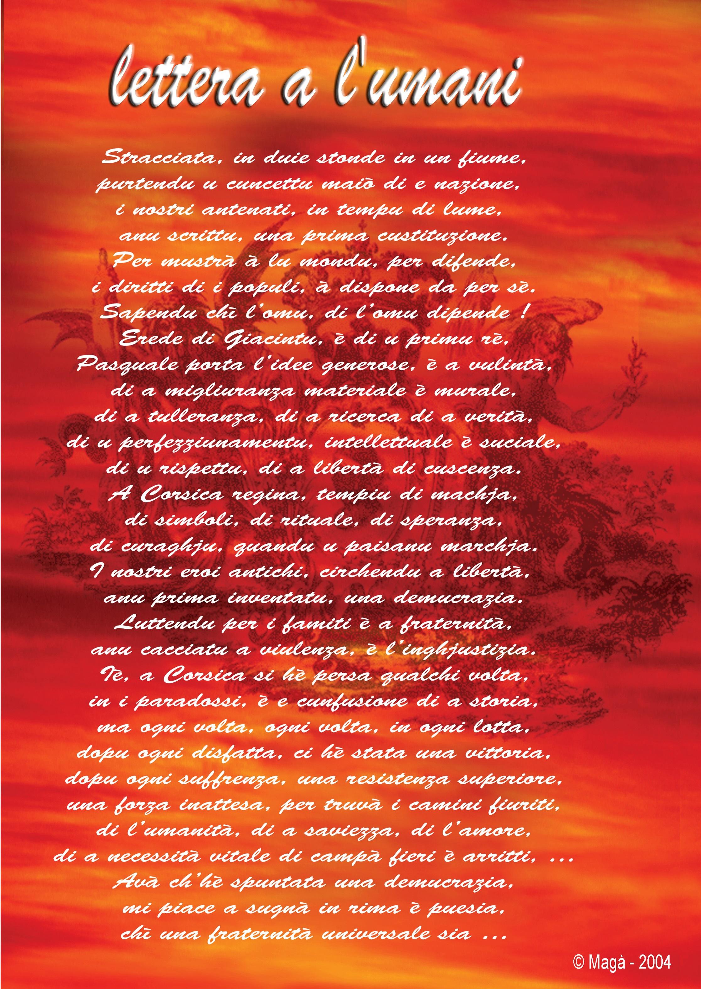 LETTERA A L'UMANI (Magà Ettori - Edmond Simeoni)