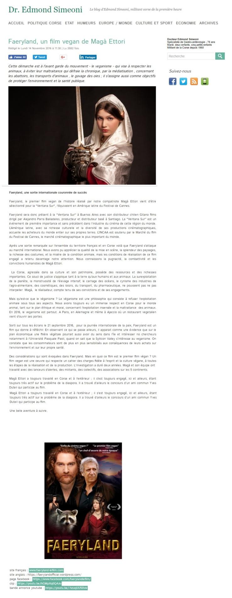 Edmond Simeoni - Faeryland, une sortie internationale couronnée de succès - 1.jpg